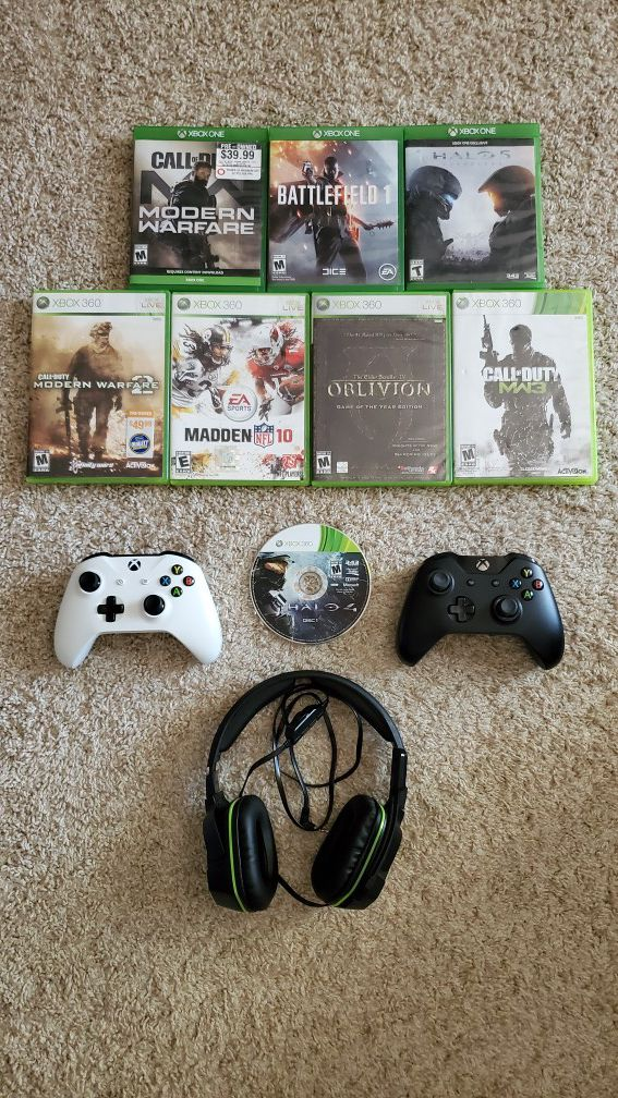 Xbox One S / 360 games with wireless controllers/headset