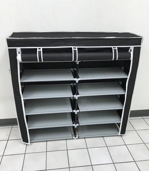"New $25 each 6-Tiers 36 Shoe Rack Closet Fabric Cover Portable Storage Organizer Cabinet 43x12x43"" for Sale in South El Monte, CA"