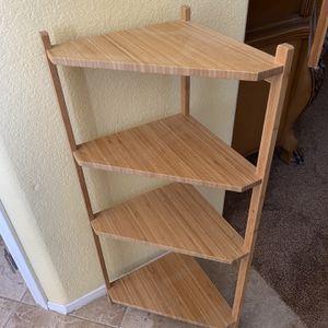 Bamboo wood Corner Shelf for Sale in Las Vegas, NV