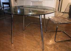 Glass dining table with two chairs for Sale in San Diego, CA