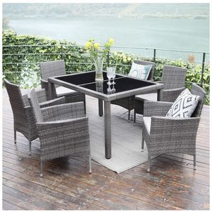 Outdoor dining patio table and chairs rattan waterproof for Sale in Fort Lauderdale, FL