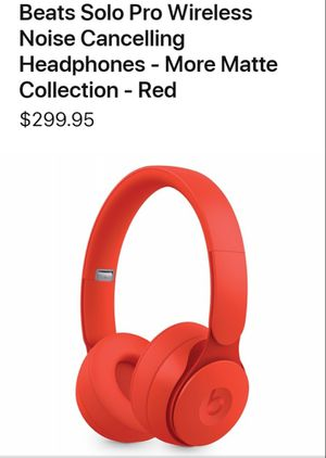 AUTHENTIC BEATS Solo Pro...Matte Red for Sale in Aiea, HI