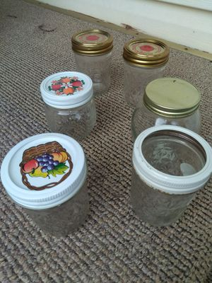 Six miscellaneous jars for Sale in Aurora, IL