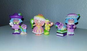 Strawberry Shortcake Plum Pudding (2) & Peach Blush Mini PVC Figures for Sale in Fontana, CA