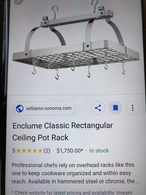 Ceiling pot rack for Sale in Adelanto, CA