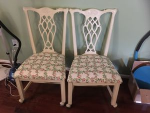 2 dining chairs on wheels for Sale in Fairfax, VA