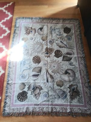 Throw Blanket: 5ft x 7ft Sea shells. for Sale in Gaithersburg, MD