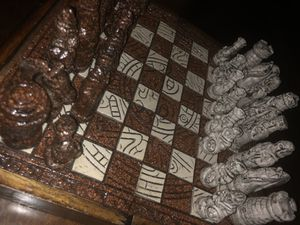 Hand Carved Teotihuacan Chess Board & Pieces for Sale in El Cajon, CA