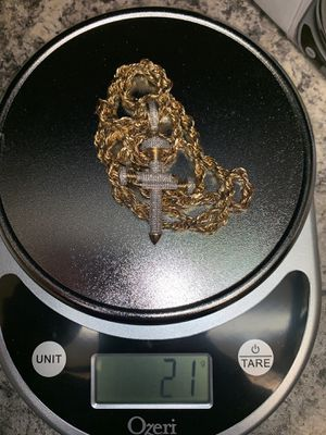 10K Yellow Gold Chain Pendant for Sale in Littleton, CO