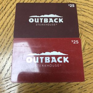 Outback Card $50 for Sale in Wayne, IL