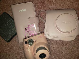 Pink instax mini fuji film camera + case for Sale in Stockton,  CA
