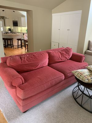 FREE!!!!! Red plush couch for Sale in Walnut Creek, CA