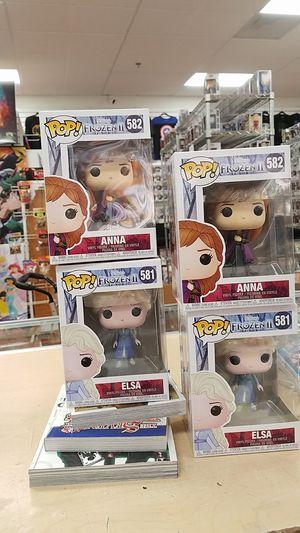 Anna Elsa frozen 2 funko pop for Sale in Riverside, CA