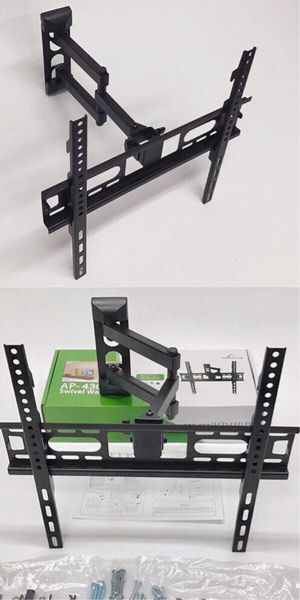 New in box 22 to 55 inches swivel full motion tv television wall mount bracket flat screen monitor 90 lbs capacity soporte de tv for Sale in Whittier, CA