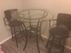 3 PC Kitchen High Top Bistro Pub Table Set for Sale in WARRENSVL HTS, OH
