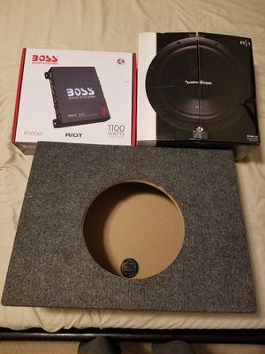 """Rockford Fosgate 10"""" subwoofer, box and amp for Sale in Rockville, MD"""