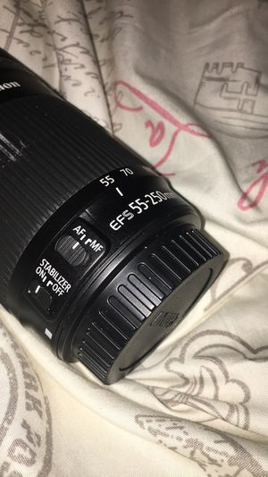 Canon - EF-S 55-250mm f/4-5.6 IS STM Telephoto Zoom Lens for Select Canon Cameras - Black Get for Sale in St. Louis, MO