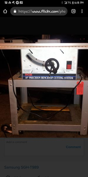 """Ryobi 10"""" Precision Benchtop Cutting System Table Saw for Sale in El Cajon, CA"""