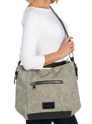 Marc NewYork by Andrew Marc Large Grey Suede Hobo Bag Purse for Sale in Peoria, AZ