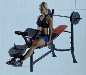 Workout bench with weights for Sale in Edgewood, WA