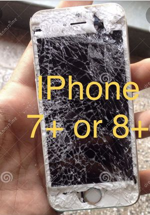 IPHONE 7+ or 8+ plus screen lcd glass replacement for Sale in Miami, FL