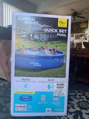 Summer Waves Quick Set Pool 15ft! for Sale in Stockton, CA