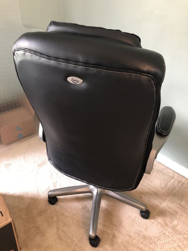 Serta® Smart Layers™ Arlington Bonded Leather High-Back Executive Chair, used