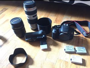 Eos Rebel t4i canon plus lenses for Sale in Newark, NJ