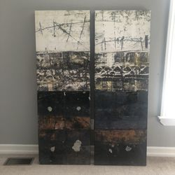 Set of two Tracing One's Roots II Art piece by Karin Planker for Sale in Centerport,  NY