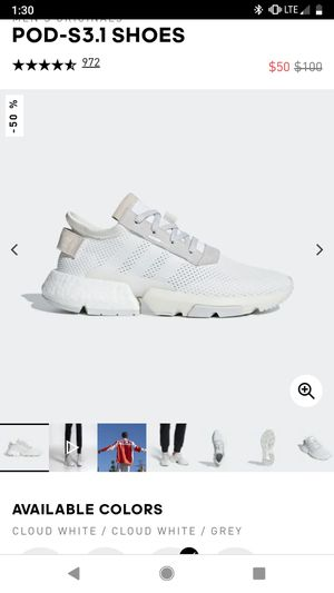 [wanted] Adidas white pod shoes size 12.5 for Sale in Monterey Park, CA