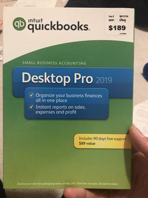 Quickbooks desktop pro 2019 for Sale in Rochester, MI