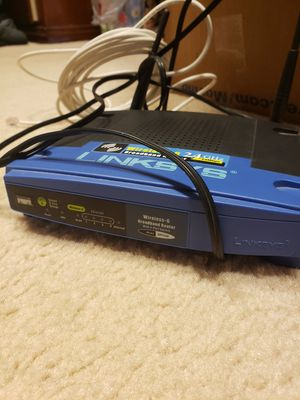 Linksys router WRT54G Wi-Fi series for Sale in Spring, TX