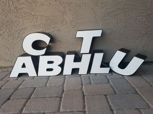 Metal Lighted Industrial Building Letters for Sale in Scottsdale, AZ