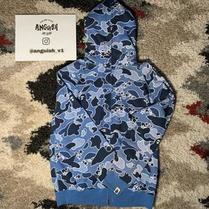 Bape Blue Psych Camo Fullzip for Sale in Middletown, CT