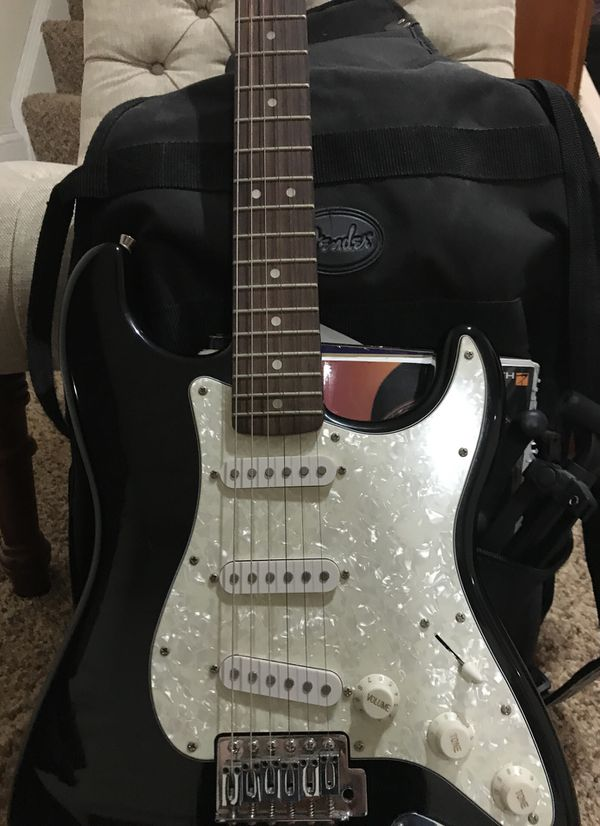 Fender guitar and small amplifier