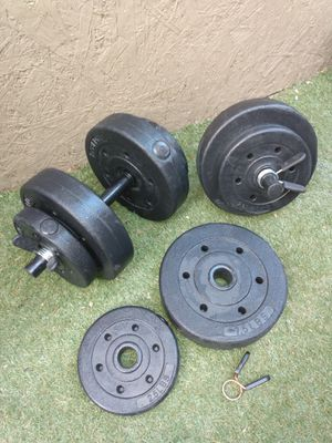 Dumbbells weights 40 pounds total for Sale in Santa Ana, CA