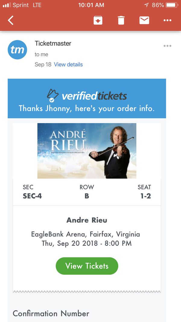 Andre Rieu vip tickets