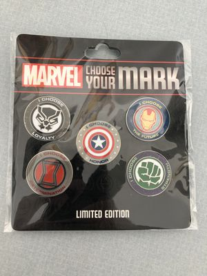 Brand new Disney Marvel choose your mark pass holder pins 1 and 2 for Sale in Lawndale, CA
