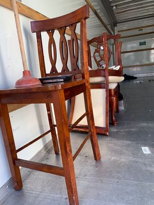 2 Wooden tall chair for Sale in Washington, NC