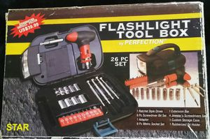 26 Piece Flashlight Tool Box for Sale in Glen Burnie, MD