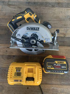 Dewalt XR Circular Saw + 9AH FlexVolt + Fast Charger for Sale in Tempe, AZ