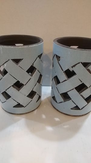 Glazed ceramic pots or candle holders for Sale in Las Vegas, NV