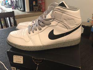 Air Jordan 1 Mid white/black/cement grey for Sale in Chula Vista, CA