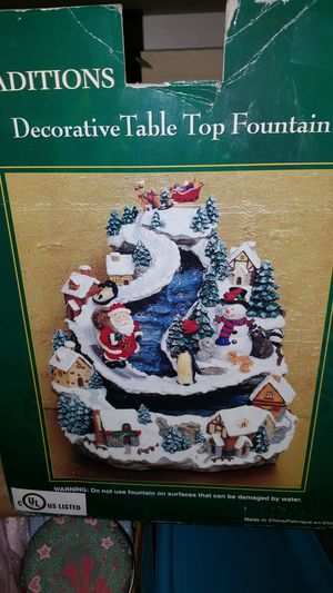 Christmas Decorative Fountain for Sale in Vancouver, WA