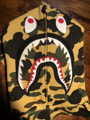 Yellow camo Bape Hoodie- L for Sale in Queens, NY