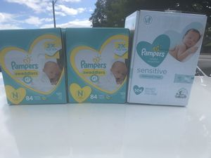Pampers size Newborn 12&3 for Sale in Nashville, TN