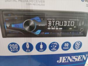 Car stereo :Jensen digital media player with Bluetooth usb aux input 200 watts remote control 2 pairs rca output ( no cd player) for Sale in Santa Ana, CA