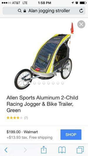 Allen jogger / Bike trailer for Sale in Tampa, FL