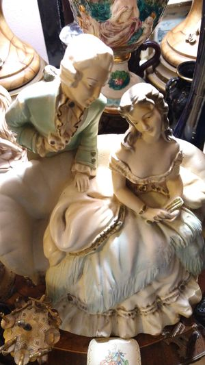Antique men and woman heavy solid ceramic statue for Sale in Torrance, CA