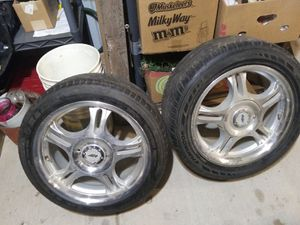 """Aluminum universal 17 """" rims for Sale in Frederic, WI"""